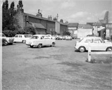 Bank Loke Car Park, North Walsham. 1971.