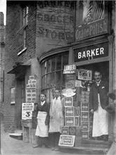 Barker's Grocers in The Butchery, North Walsham.