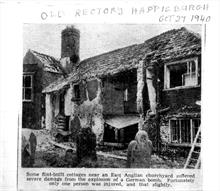 Bomb damage to Happisbugh old rectory in 1940