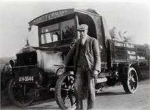 Cubitt & Walker's Napier Lorry, bodywork built by Frank Mann, Vicarage Street. Driver is John Martin Sandall