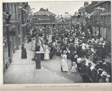Dinner in the Market Place during the celebrations for the Coronation of George V.