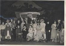 G.F.S. North Walsham at a Pantomime Fair which they organised in aid of the Church heating fund.