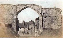 Gateway of Bromholm Priory, Bacton.... looking north. Photo G.McLean.