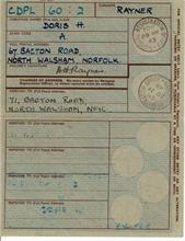 Identity Card of Doris Rayner, nee Marjoram. Her father , Fred, established Marjoram's Outfitters in 1901.