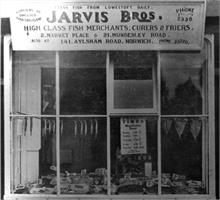 Jarvis Bros, Fishmongers, 2 Market Place, North Walsham. After C.Mace, photographer (1947)