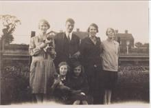 Kathleen and Joyce Keeble with Family in 1926 at 56 Station Road.