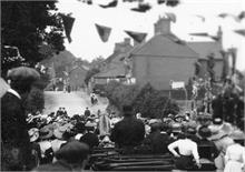 The King George V Coronation celebrations 1911 in North Walsham outside Manor Road School.
