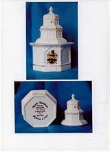 Limited Edition Crested Bone-China model of the North Walsham Market Cross produced by the Millennium Committee.....Still available from Mike Ling.