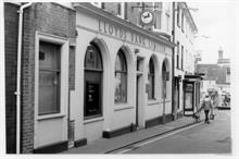 Lloyds Bank, Kings Arms Street, North Walsham. The branch closed on November 9th 1998 and the business joined TSB on the Market Place.