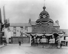 Market Cross, North Walsham, decorated for Queen Victoria's Diamond Jubillee, 1897