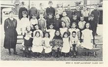 Miss H.Rump and Infant class 1917