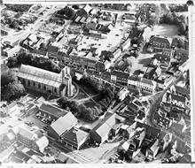 North Walsham aerial photo 1975