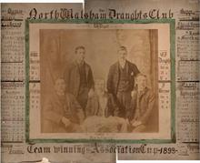 North Walsham Draughts Club Team Winners of the Association Cup in 1893.... 58 Games won, 22 drawn and 20 lost.