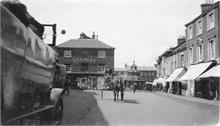 North Walsham Market Place with Horse and Cart 1924