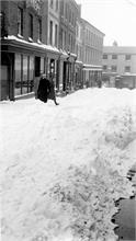 North Walsham Town Centre in Snow. 1947.