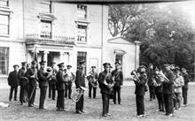 North Walsham's Salvation Army Band outside The Oaks