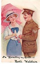 Recruiting postcard, North Walsham