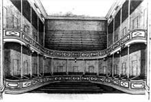 Sketch showing auditorium of Fisher's Theatre, North Walsham