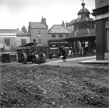 Surfacing the Market Place, North Walsham.