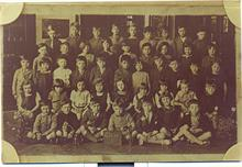 Thelma London at Enfield Road Infants' School in 1930. Thelma is in the third row, second from the left