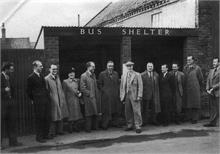 Town Council opening bus shelter - Yarmouth Rd c1950