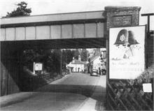 Town Station bridge, Norwich Road, North Walsham. c1950. Repaced in 1976 with the Bypass.