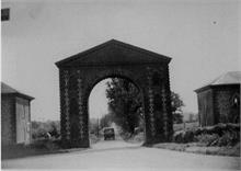 Westwick Arch, looking South. Originally dove-cot/ gateway to the Westwick Estate