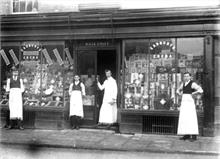 William Alexander LeGrice, Grocer, Church Street, North Walsham. Staff on parade.