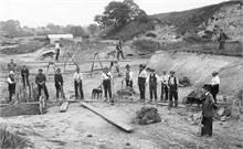 Workers repairing North Walsham and Dilham Canal 1912