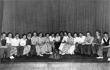 Youth concert in North Walsham Secondary Modern School at Manor Road in the late 1940s.