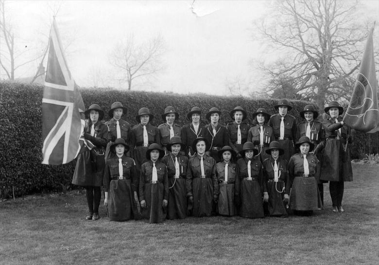 Photograph. 3rd North Walsham Guides (North Walsham Archive).