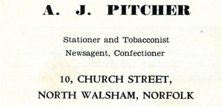 Photograph. A. J. Pitcher (North Walsham Archive).