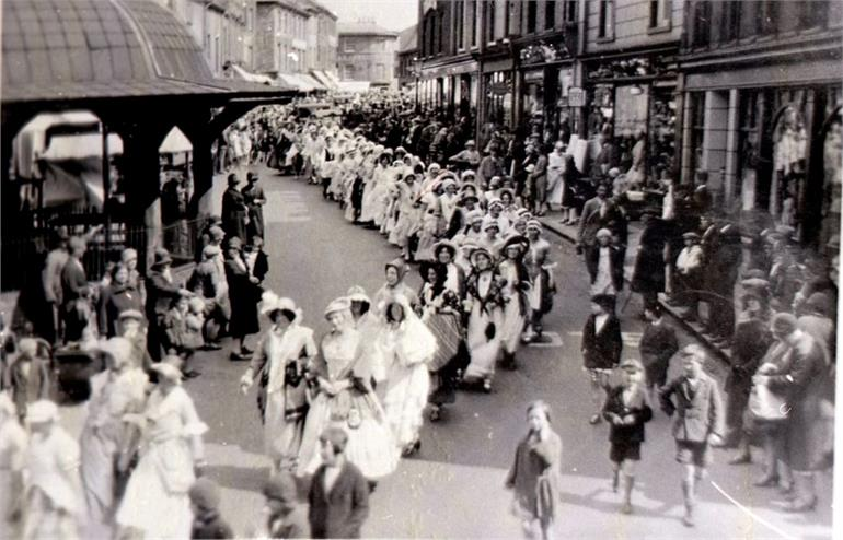Photograph. August Fair North Walsham Market Place. (North Walsham Archive).