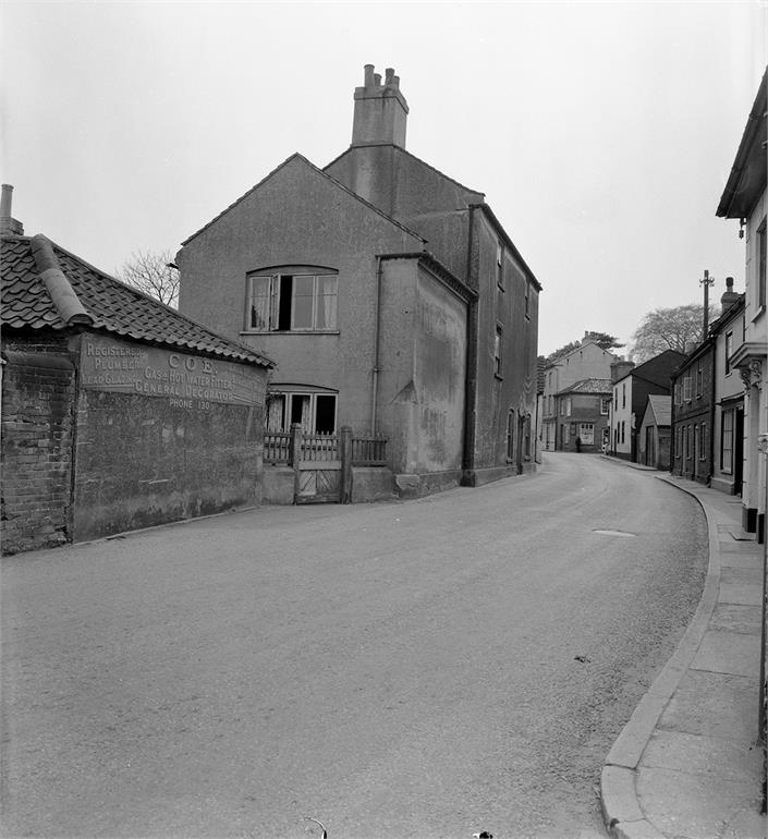 Photograph. Bacton Road and Church Street (North Walsham Archive).