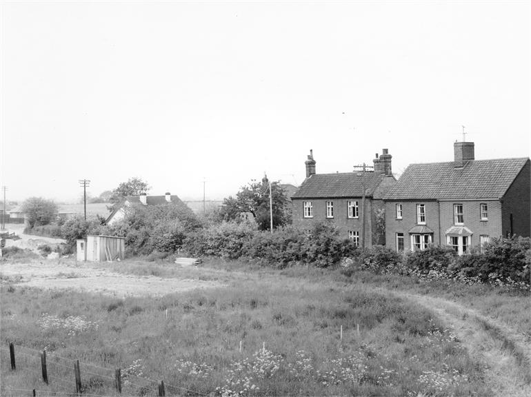Photograph. Bradfield Road, North Walsham. 9th June 1962 (North Walsham Archive).