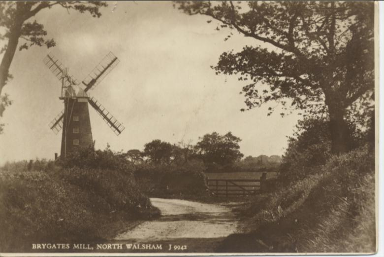 Photograph. Brygates Windmill, North Walsham (North Walsham Archive).