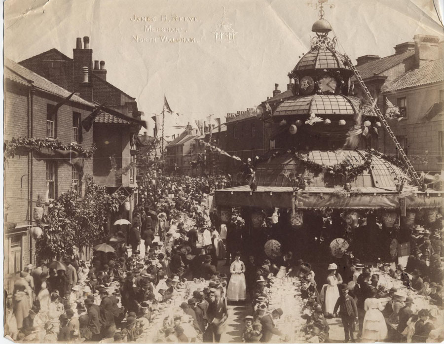 Photograph. Celebrations for the Golden Jubilee of Queen Victoria in 1887. (North Walsham Archive).