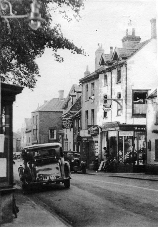 Photograph. Church Street c1930s (North Walsham Archive).
