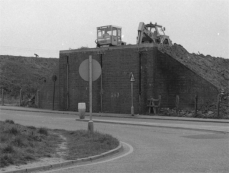 Photograph. Construction of North Walsham By-Pass 1976 (North Walsham Archive).