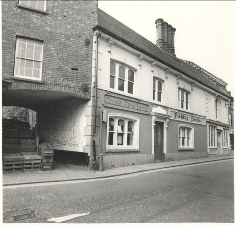 Photograph. The Cross Keys Public House before it became Woolworths. (North Walsham Archive).