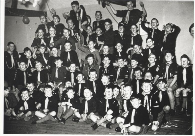 Photograph. Cub and Scout Christmas Party (North Walsham Archive).