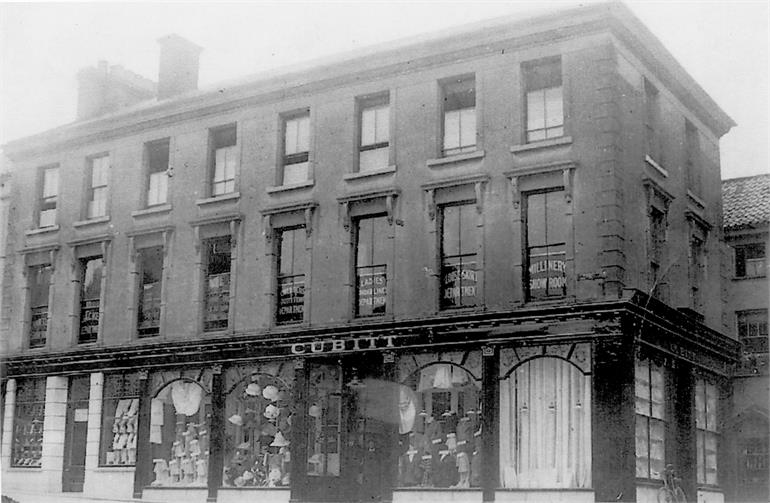 Photograph. Cubitt Department Store (North Walsham Archive).