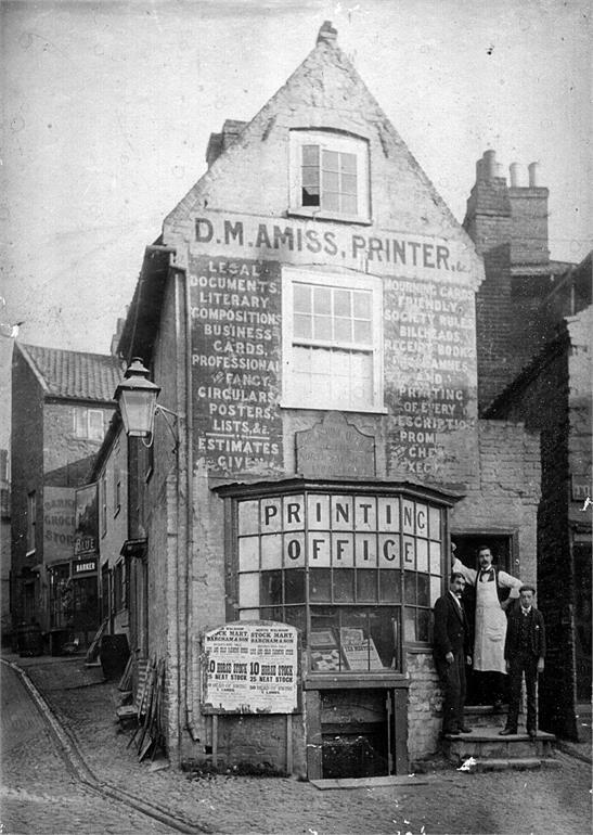 Photograph. D. M. Amiss, Printer. Market Street, North Walsham. (North Walsham Archive).