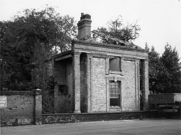 Photograph. Demolition of The Oaks Lodge - 1960 (North Walsham Archive).
