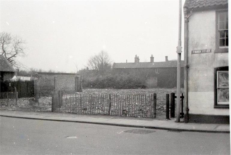 Photograph. Dog Yard after demolition (North Walsham Archive).