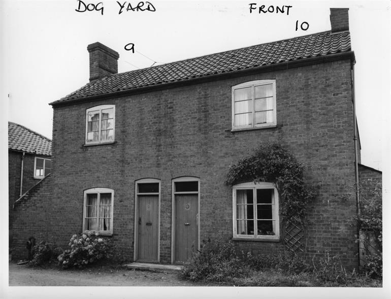 Photograph. Dog Yard, North Walsham. 3rd November 1960. (North Walsham Archive).