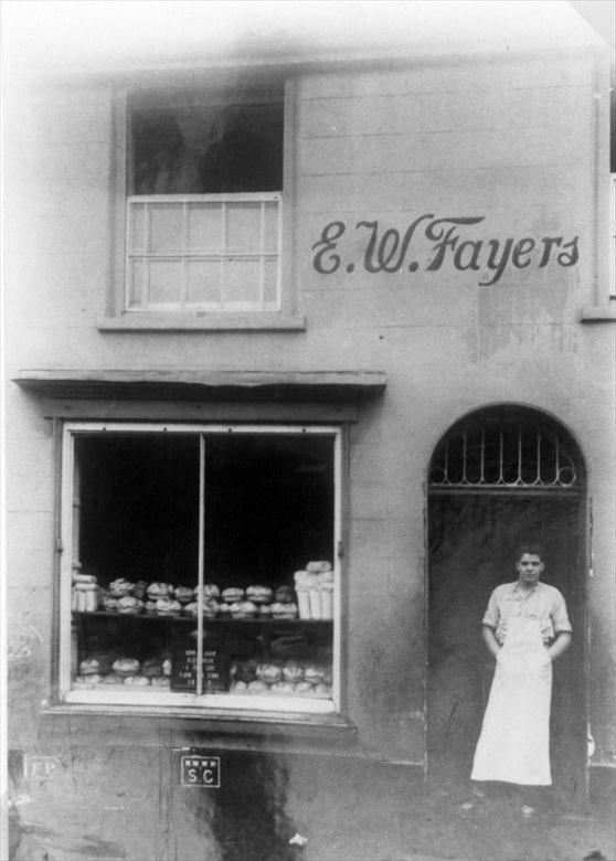 Photograph. E. W. Fayers Bakery, Nelson Street, later 19 Mundesley Road, North Walsham (North Walsham Archive).