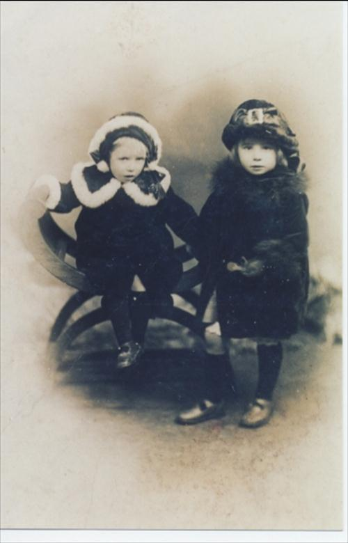Photograph. Edna and Constance Bradfield. (North Walsham Archive).