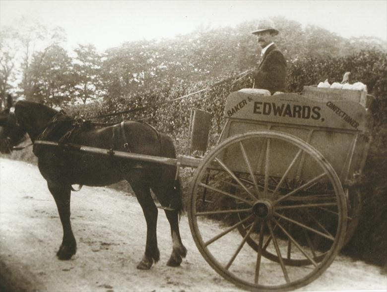Photograph. Edwards Delivery Cart circa 1910 (North Walsham Archive).