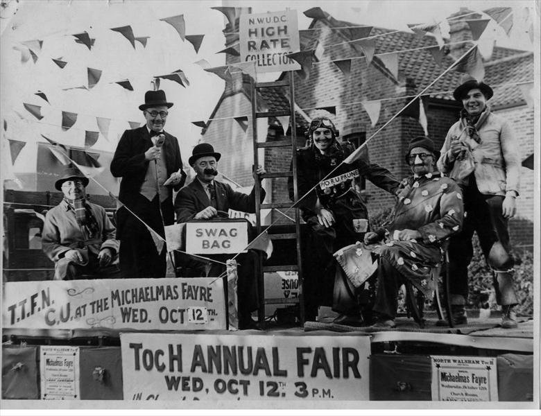 Photograph. Float to publicise the Annual Toc H Fair (North Walsham Archive).